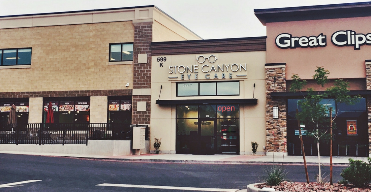 stone canyon eye care outside of office
